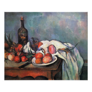 Still life with onions - Paul Cézanne Poster