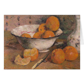 Still life with Oranges, 1881 Card