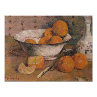 Still life with Oranges, 1881 Poster