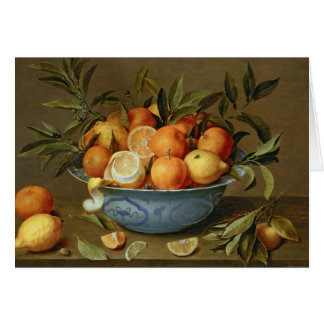 Still Life with Oranges and Lemons Card