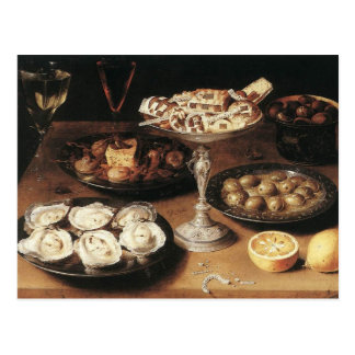 Still life with oysters - Osias Beert Postcard
