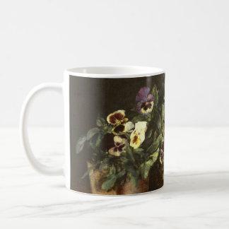 Still Life with Pansies by Henri Fantin-Latour Coffee Mug