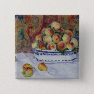 Still Life with Peaches 2 Inch Square Button
