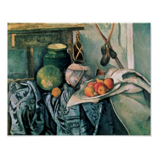 Still Life with Pitcher and Aubergines Poster