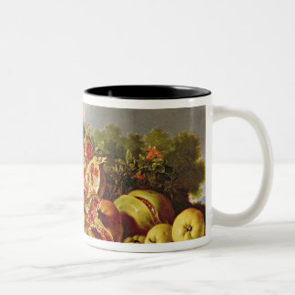 Still Life with pomegranates Two-Tone Coffee Mug
