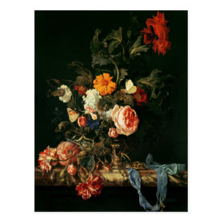 Still Life with Poppies and Roses Postcard