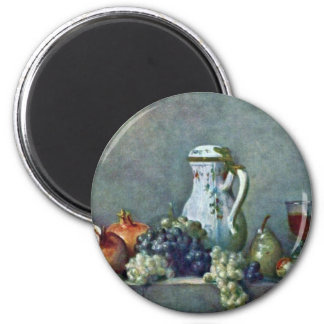 Still Life With Porcelain Teapot,  By Chardin Jean Magnet