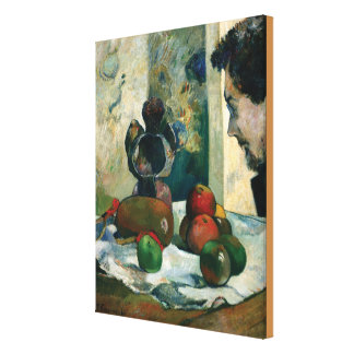 Still Life with Profile of Laval by Paul Gauguin Canvas Print