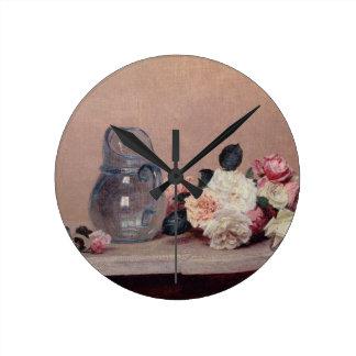 Still Life with Roses, 1889 (oil on canvas) Wallclocks