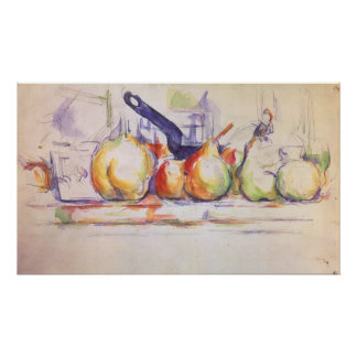 Still Life with Saucepan by Paul Cezanne Poster