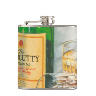 Still Life with Scotch by Jennifer Goldberger Hip Flask