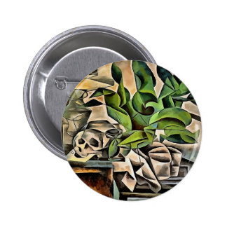 Still life with Skull After Bohumil Kubista 2 Inch Round Button