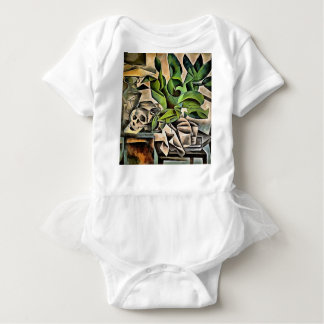Still Life with Skull After Bohumil Kubista Baby Bodysuit