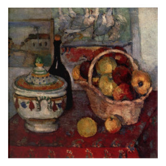 Still Life With Soup Tureen by Paul Cezanne Acrylic Wall Art