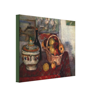 Still Life With Soup Tureen by Paul Cezanne Canvas Print