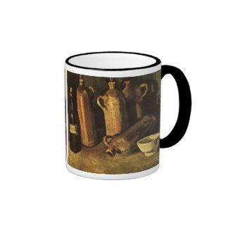 Still Life with Stone Bottles by Vincent van Gogh Ringer Coffee Mug