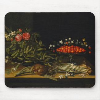 Still Life with Strawberries Mouse Pad