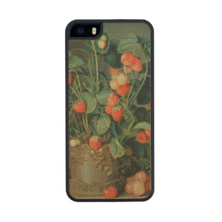 Still life with strawberries carved® maple iPhone 5 slim case