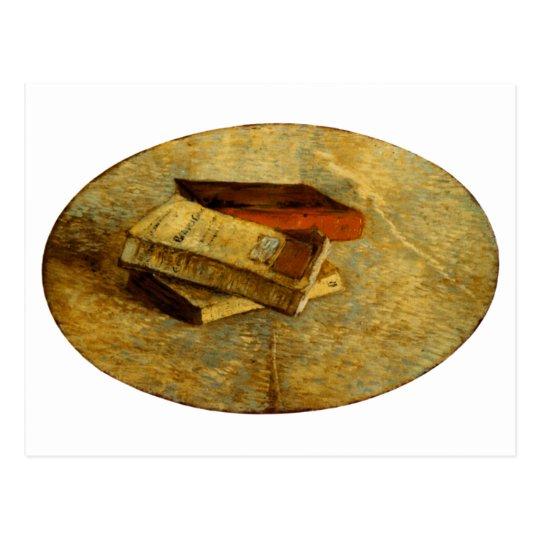 Still Life with Three Books Van Gogh Fine Art Postcard