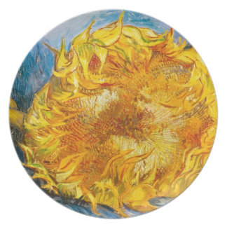 Still Life with Two Sunflowers by Vincent Van Gogh Dinner Plate