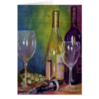 Still Life With Wine Card