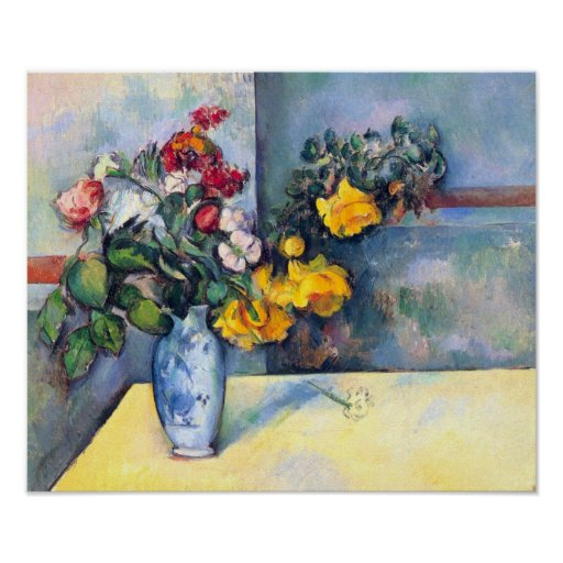 Still lifes, flowers in a vase by Paul Cezanne Print