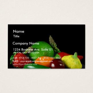 Still Lifevegetables Asparagus Limes Strawberries Business Card