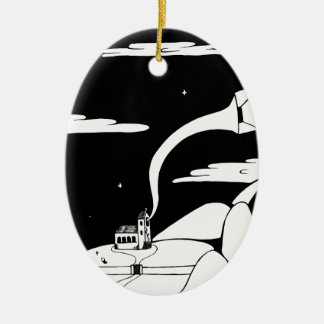 Still Listening Ceramic Ornament