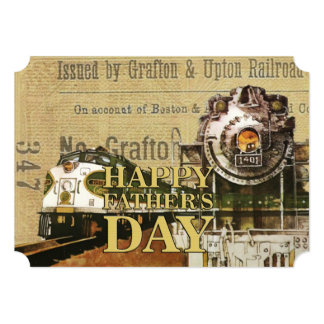 Still Loves Trains Father's Day Party Invitations