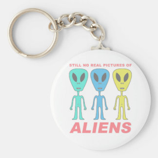 Still No Real Pictures of Aliens Basic Round Button Keychain