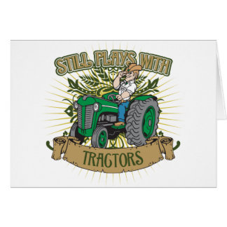 Still Plays With Green Tractors Greeting Card
