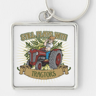 Still Plays With Red Tractors Keychain