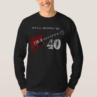 Still Rockin' at 40, red & black guitar T-shirts