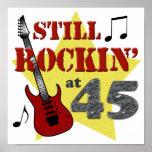 Still Rockin' At 45 Posters