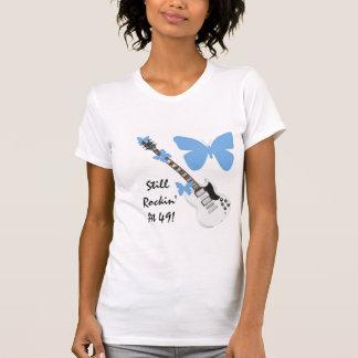 Still Rockin at 49 butterfly guitar shirt Tee Shirts