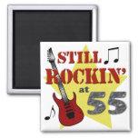 Still Rockin' At 55 Fridge Magnet