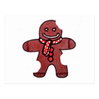 Still Smiling Gingerbread Man Postcard