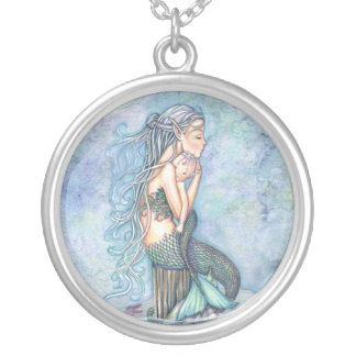 Still Waters Mermaid Mama and Baby Necklace
