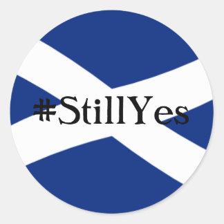 Still Yes Classic Round Sticker