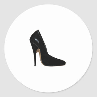 Stilletto Heel Right Side Black The MUSEUM Zazzle Round Sticker