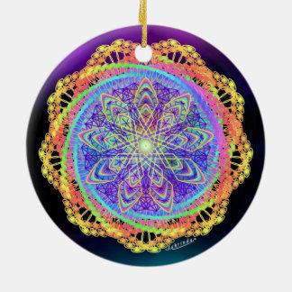Stillness to Unity Round Ceramic Ornament