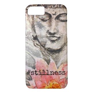 Stillness Zen Buddha Watercolor Art iPhone Case