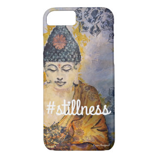 #Stillness Zen Buddha Watercolor Art Phone Case