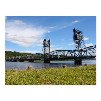 Stillwater Lift Bridge and Lawn Postcard