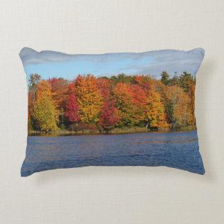 Stillwater River Autumn Landscape 2015 Accent Pillow