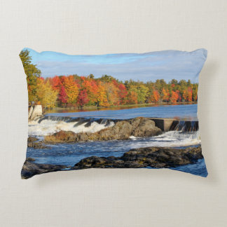 Stillwater River Autumn Landscape 2015 II Accent Pillow