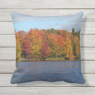 Stillwater River Autumn Landscape 2015 Throw Pillow