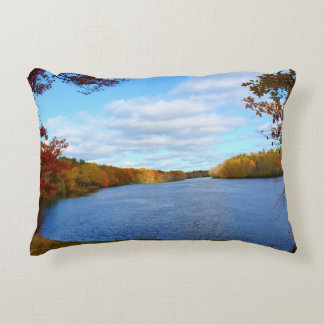 Stillwater River Autumn Scenery 2015 Decorative Pillow