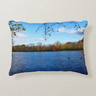Stillwater River Autumn Scenery 2015 II Accent Pillow