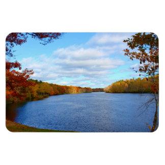 Stillwater River Autumn Scenery 2015 Rectangular Photo Magnet
